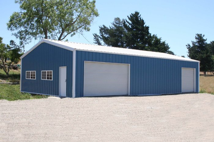 Steel Building 24x50x10 Residential Garage