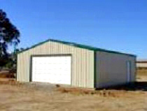 30x30 Steel Building 2 Car Garage