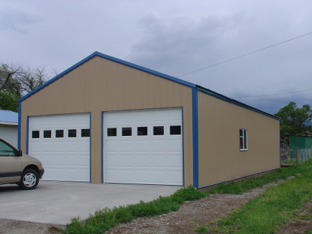 Steel Building 20x25x10 2 car residential garage