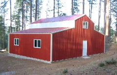 Quail buildings hollister ca custom steel metal buildings for Pre engineered garage